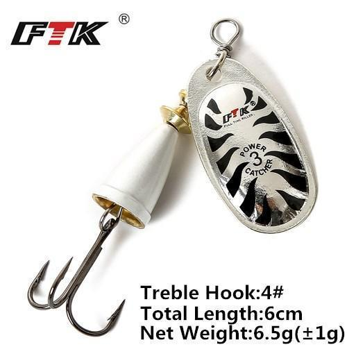 1Pcs 6Cm-7.5Cm Size 3 4 5 Spinner Spoon Bait Fishing Lure Hard Bait Fishing-Fishing Tackle-SP01-03-3-Bargain Bait Box