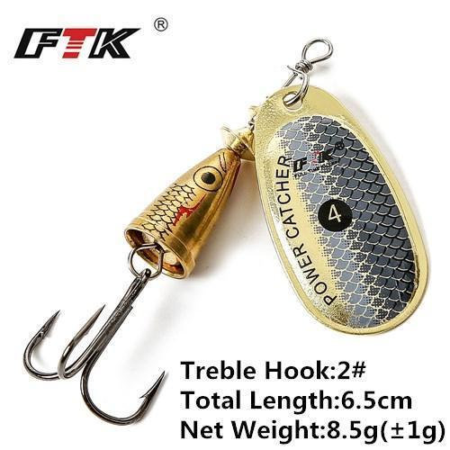 1Pcs 6Cm-7.5Cm Size 3 4 5 Spinner Spoon Bait Fishing Lure Hard Bait Fishing-Fishing Tackle-SP01-06-4-Bargain Bait Box