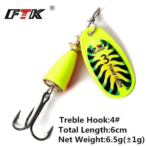 1Pcs 6Cm-7.5Cm Size 3 4 5 Spinner Spoon Bait Fishing Lure Hard Bait Fishing-Fishing Tackle-SP01-07-3-Bargain Bait Box