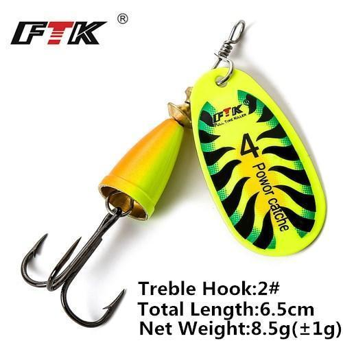 1Pcs 6Cm-7.5Cm Size 3 4 5 Spinner Spoon Bait Fishing Lure Hard Bait Fishing-Fishing Tackle-SP01-07-4-Bargain Bait Box