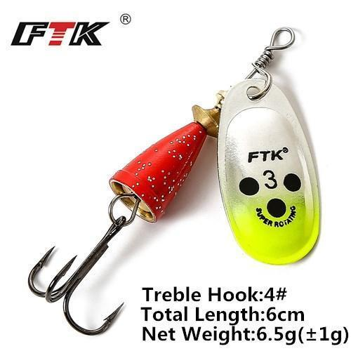 1Pcs 6Cm-7.5Cm Size 3 4 5 Spinner Spoon Bait Fishing Lure Hard Bait Fishing-Fishing Tackle-SP01-09-3-Bargain Bait Box