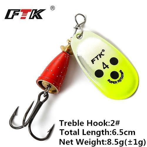 1Pcs 6Cm-7.5Cm Size 3 4 5 Spinner Spoon Bait Fishing Lure Hard Bait Fishing-Fishing Tackle-SP01-09-4-Bargain Bait Box