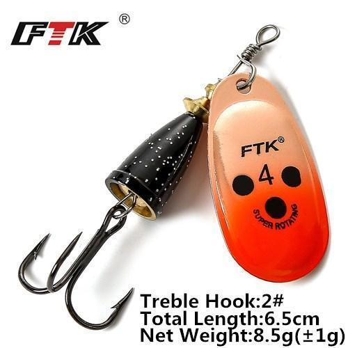 1Pcs 6Cm-7.5Cm Size 3 4 5 Spinner Spoon Bait Fishing Lure Hard Bait Fishing-Fishing Tackle-SP01-10-4-Bargain Bait Box