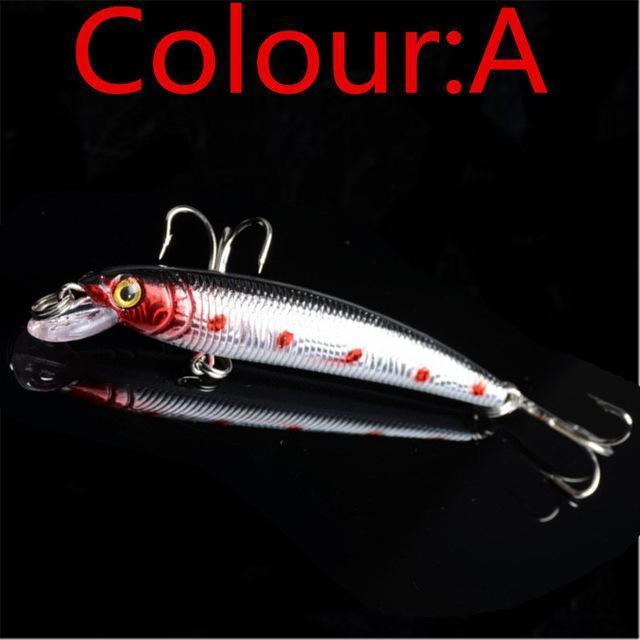 1Pcs 7.5Cm 5.6G Minow Fishing Lure Artificial Baits 3D Fish Eye Minow Lures Bait-WDAIREN KANNI Store-A-Bargain Bait Box