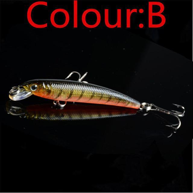 1Pcs 7.5Cm 5.6G Minow Fishing Lure Artificial Baits 3D Fish Eye Minow Lures Bait-WDAIREN KANNI Store-B-Bargain Bait Box