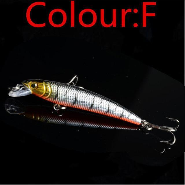 1Pcs 7.5Cm 5.6G Minow Fishing Lure Artificial Baits 3D Fish Eye Minow Lures Bait-WDAIREN KANNI Store-F-Bargain Bait Box