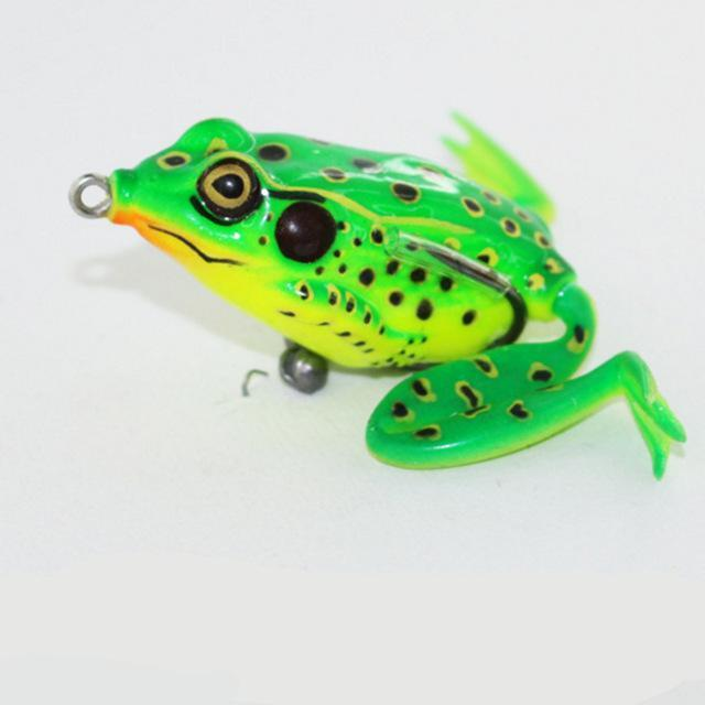 1Pcs 7Cm 9G Lifelike Soft Leg Jump Green Frog Enticement Lures Silicone Bait For-Deep Sea Sporting Goods-02-Bargain Bait Box