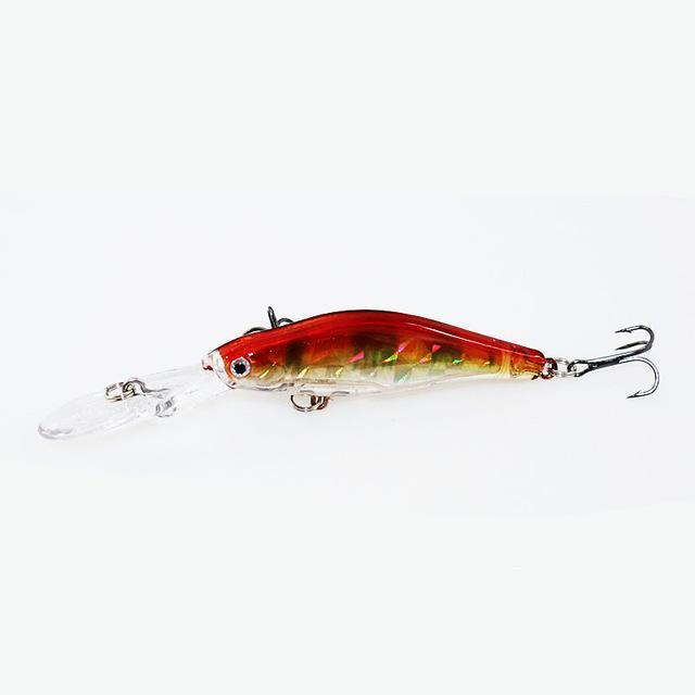 1Pcs 9.5Cm 7G Wobblers Fishing Tackle 3D Eyes Minnow Fishing Lure Swim Crank-YTQHXY Fishing (china) Store-A-Bargain Bait Box
