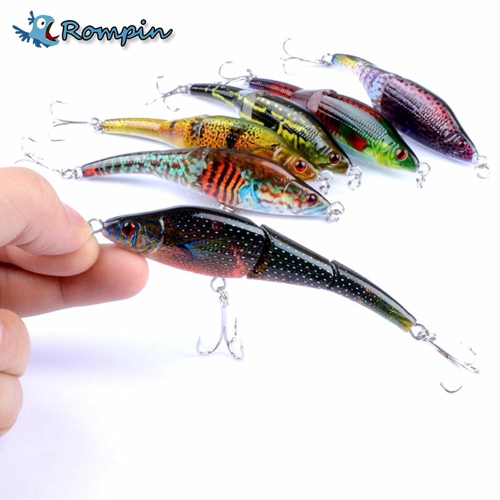1Pcs 9.5Cm/8.9G S Lifelike Swimbait Hard Vib Lures 3 Segment Minnow 6 Colors-Hard Swimbaits-Bargain Bait Box-color 1-Bargain Bait Box