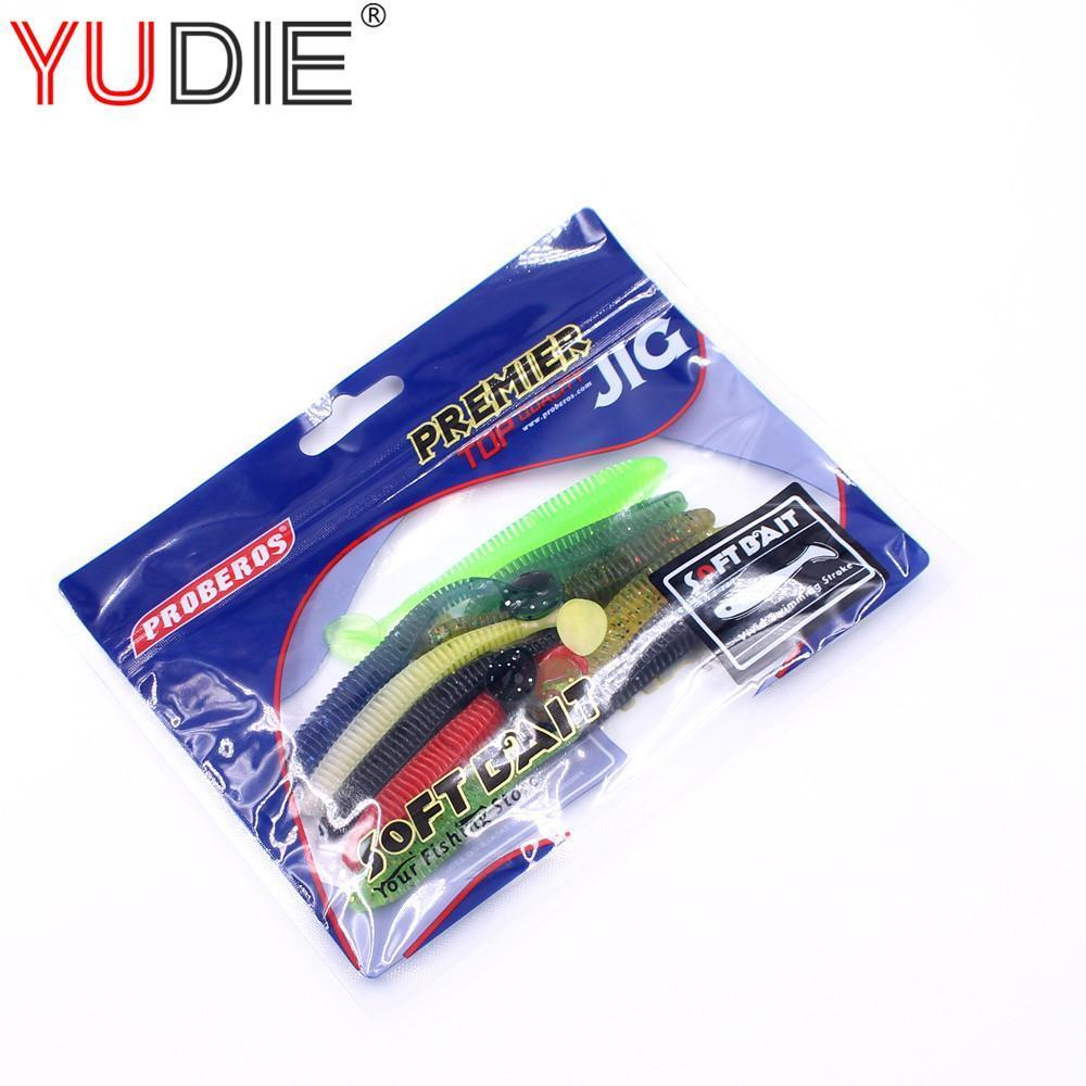 1Pcs 9Cm 2.6G Big T-Tail Soft Lure For Sea Carp Fly Fishing Spinner Bait-Deep Sea Sporting Goods-Bargain Bait Box