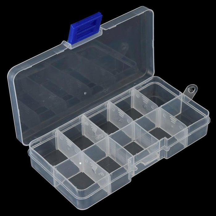 1Pcs Adjustable 10 Compartments Plastic Fishing Tackle Box Hook Bait Storage-Compartment Boxes-Bargain Bait Box-Bargain Bait Box
