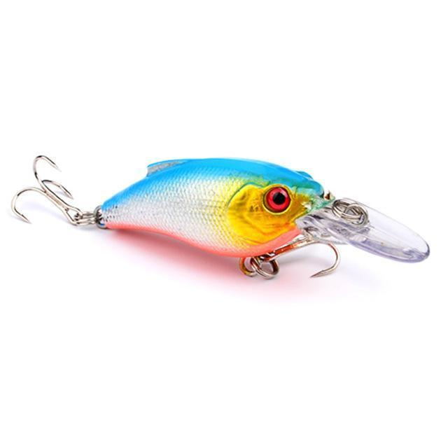 1Pcs Beginner Crank Lure 7Cm 11G Easy Use For Sea Carp Fly Fishing Bait-Deep Sea Sporting Goods-2-Bargain Bait Box