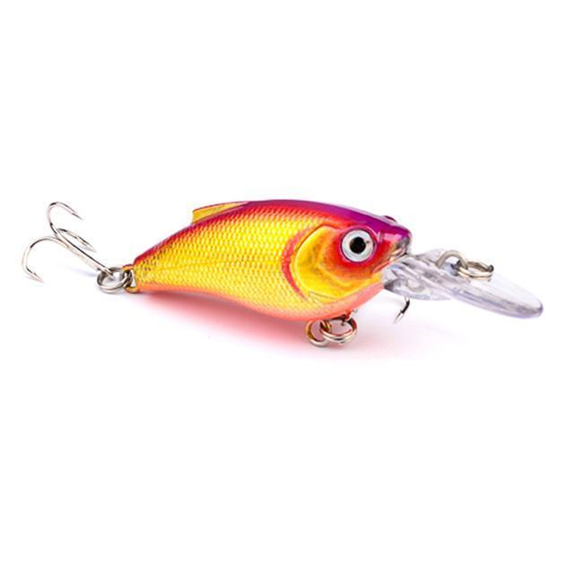 1Pcs Beginner Crank Lure 7Cm 11G Easy Use For Sea Carp Fly Fishing Bait-Deep Sea Sporting Goods-3-Bargain Bait Box