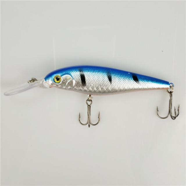 1Pcs Colorful Stripe Pattern 11Cm 10.5G Hard Bait Minnow Streak Fishing Lures-FishingWei Store-10-Bargain Bait Box
