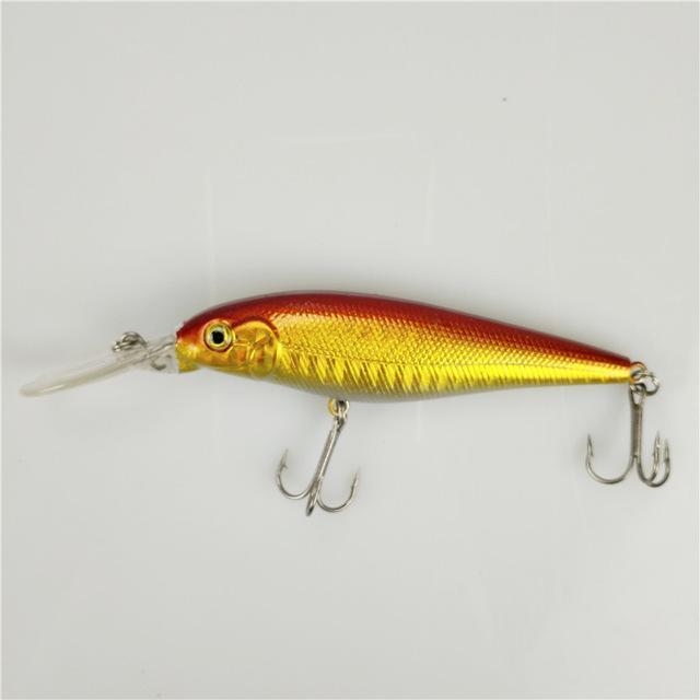 1Pcs Colorful Stripe Pattern 11Cm 10.5G Hard Bait Minnow Streak Fishing Lures-FishingWei Store-5-Bargain Bait Box