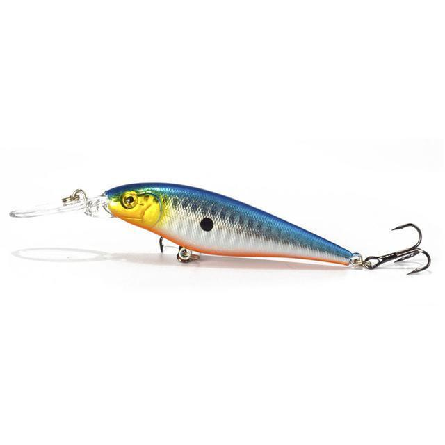 1Pcs Fishing Lure Bait Minnow With Treble Hook Isca Artificial Bass Fishing-Mr. Fish Store-004-Bargain Bait Box