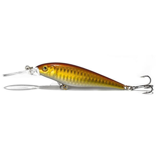1Pcs Fishing Lure Bait Minnow With Treble Hook Isca Artificial Bass Fishing-Mr. Fish Store-005-Bargain Bait Box