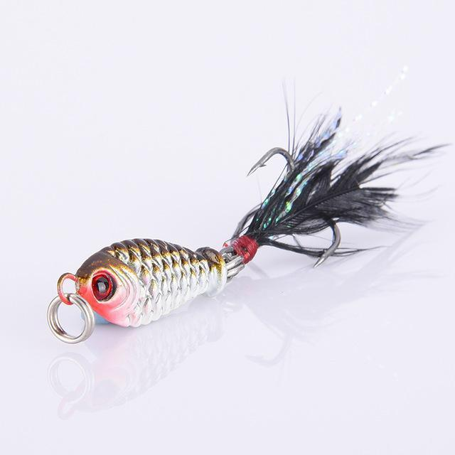 1Pcs Fishing Lures Lead Fish Vib Wobblers Fishing Tackle With Hooks For All-Ali Fishing Store-1-Bargain Bait Box
