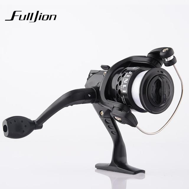 1Pcs Fishing Reels With Fishing Line Bait Casting Reel Aluminum Body Spinning-Ali Fishing Store-Black-With line-Bargain Bait Box