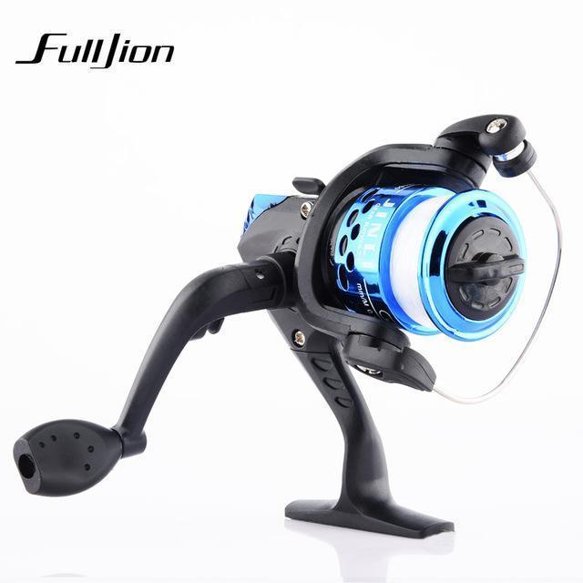 1Pcs Fishing Reels With Fishing Line Bait Casting Reel Aluminum Body Spinning-Ali Fishing Store-Blue-With line-Bargain Bait Box