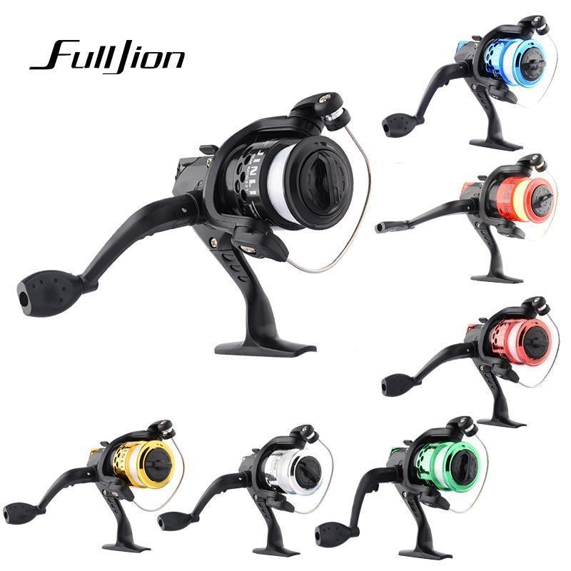 1Pcs Fishing Reels With Fishing Line Bait Casting Reel Aluminum Body Spinning-Ali Fishing Store-Gold-With line-Bargain Bait Box