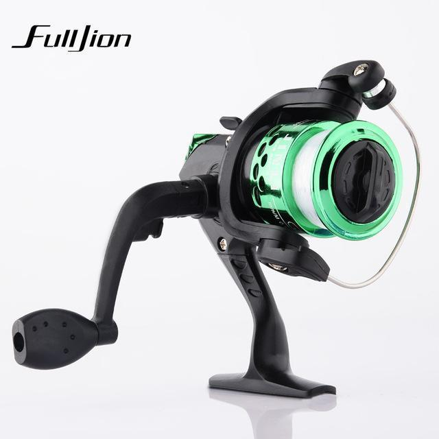 1Pcs Fishing Reels With Fishing Line Bait Casting Reel Aluminum Body Spinning-Ali Fishing Store-Green-With line-Bargain Bait Box
