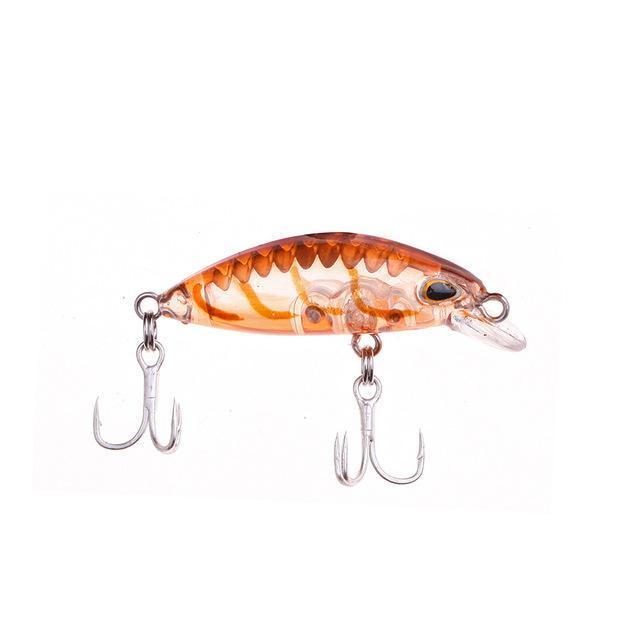 1Pcs Floating Minnow Fishing Lure Laser Hard Artificial Bait 3D Eyes 3.5Cm 2G-YPYC Sporting Store-5-Bargain Bait Box