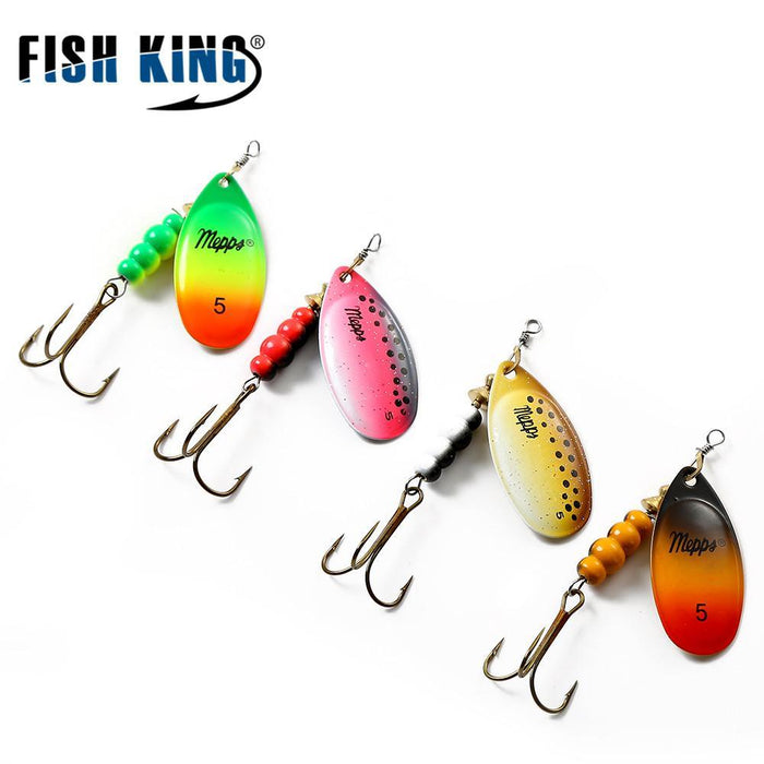 1Pcs Ftk Mepps Size 0# 1# 2# 3# 4# 5# Fishing Treble Hooks 4 Colors Spoon Tackle-Inline Spinners-Bargain Bait Box-Multi-Russia-Bargain Bait Box
