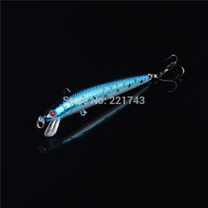 1Pcs Hard Plastic Minnow Lure 3D Eyes Crankbait Wobbler Artificial Bait-Lingyue Fishing Tackle Co.,Ltd-C1-Bargain Bait Box
