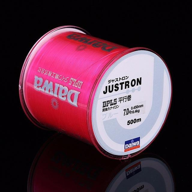1Pcs High Quality Nylon Fishing Line 500 M Durable Main Line Made In Japan-weihefishing Water Trip Fishing Store-pink-0.4-Bargain Bait Box