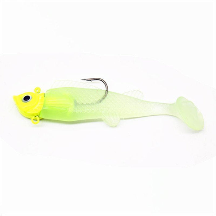 1Pcs Lead Jig Head Fish Tackle Sharp Treble Hook 3D Eyes T Tail Lifelike-WDAIREN KANNI Store-Bargain Bait Box