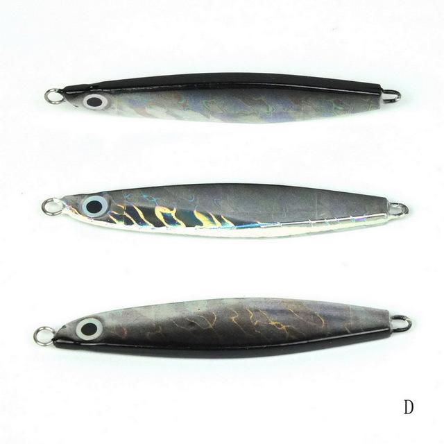 1Pcs Metal Jigging Spoon 10G 12G 14G 3D Eyes Artificial Bait Boat Fishing Jig-Xiamen Smith Industry Co,. Ltd-12g D-Bargain Bait Box