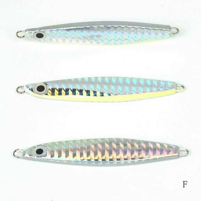 1Pcs Metal Jigging Spoon 10G 12G 14G 3D Eyes Artificial Bait Boat Fishing Jig-Xiamen Smith Industry Co,. Ltd-12g F-Bargain Bait Box