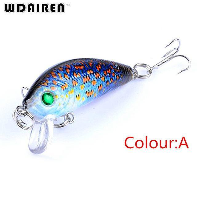 1Pcs Mini Minnow Hard Bait 3.8G 4.5Cm Floating Crankbait Fishing Lures Pesca-PROLEURRE FISHING Store-A-Bargain Bait Box