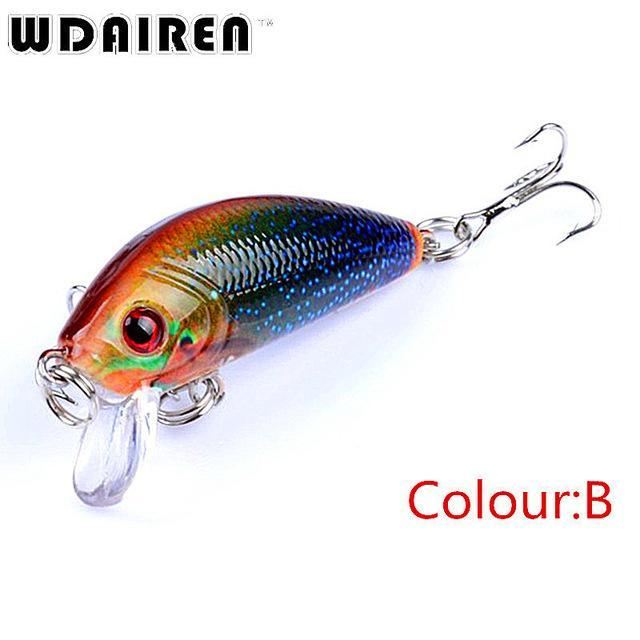 1Pcs Mini Minnow Hard Bait 3.8G 4.5Cm Floating Crankbait Fishing Lures Pesca-PROLEURRE FISHING Store-B-Bargain Bait Box