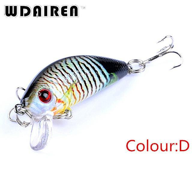1Pcs Mini Minnow Hard Bait 3.8G 4.5Cm Floating Crankbait Fishing Lures Pesca-PROLEURRE FISHING Store-D-Bargain Bait Box