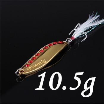 1Pcs Silver/Golden 7.5G 10.5G 15G 20G Alloy Fishing Spoon Lures Hard Bait-SHUNMIER Official Store-Blue-Bargain Bait Box
