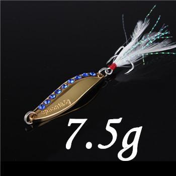 1Pcs Silver/Golden 7.5G 10.5G 15G 20G Alloy Fishing Spoon Lures Hard Bait-SHUNMIER Official Store-fish-Bargain Bait Box