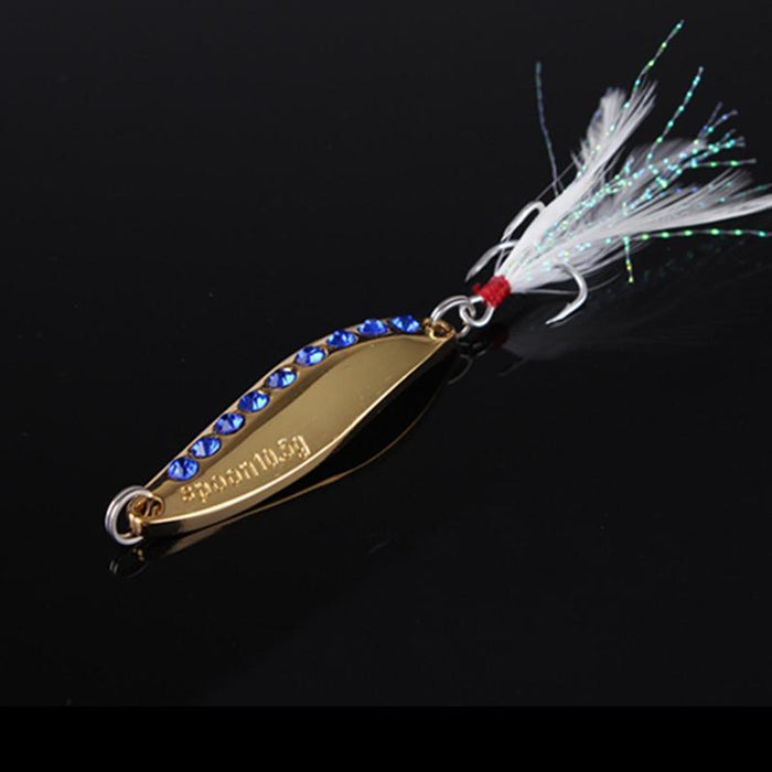 1Pcs Silver/Golden 7.5G 10.5G 15G 20G Alloy Fishing Spoon Lures Hard Bait-SHUNMIER Official Store-fishing lures-Bargain Bait Box
