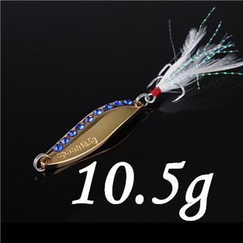 1Pcs Silver/Golden 7.5G 10.5G 15G 20G Alloy Fishing Spoon Lures Hard Bait-SHUNMIER Official Store-Light Grey-Bargain Bait Box