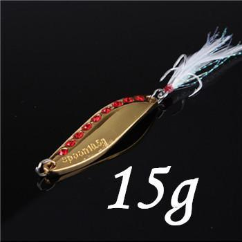 1Pcs Silver/Golden 7.5G 10.5G 15G 20G Alloy Fishing Spoon Lures Hard Bait-SHUNMIER Official Store-Light Yellow-Bargain Bait Box