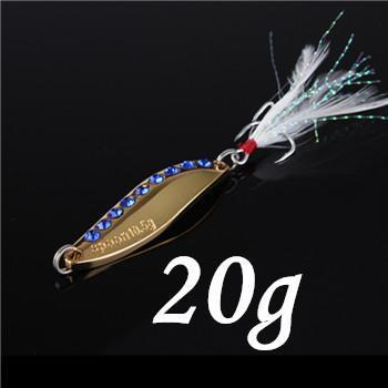 1Pcs Silver/Golden 7.5G 10.5G 15G 20G Alloy Fishing Spoon Lures Hard Bait-SHUNMIER Official Store-Orange-Bargain Bait Box