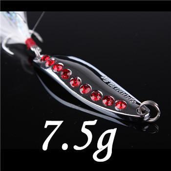 1Pcs Silver/Golden 7.5G 10.5G 15G 20G Alloy Fishing Spoon Lures Hard Bait-SHUNMIER Official Store-pesca-Bargain Bait Box