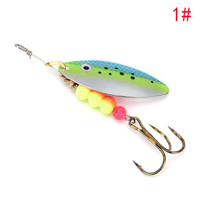 1Pcs Spinner Spoon Shippin Hook De Lures With Mustad Treble Hook Jig-Inline Spinners-Bargain Bait Box-1-Bargain Bait Box