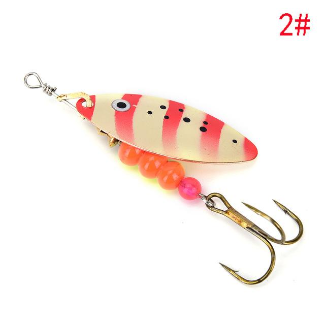 1Pcs Spinner Spoon Shippin Hook De Lures With Mustad Treble Hook Jig-Inline Spinners-Bargain Bait Box-2-Bargain Bait Box
