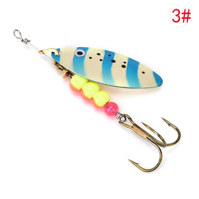 1Pcs Spinner Spoon Shippin Hook De Lures With Mustad Treble Hook Jig-Inline Spinners-Bargain Bait Box-3-Bargain Bait Box