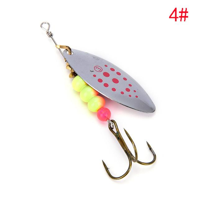 1Pcs Spinner Spoon Shippin Hook De Lures With Mustad Treble Hook Jig-Inline Spinners-Bargain Bait Box-4-Bargain Bait Box