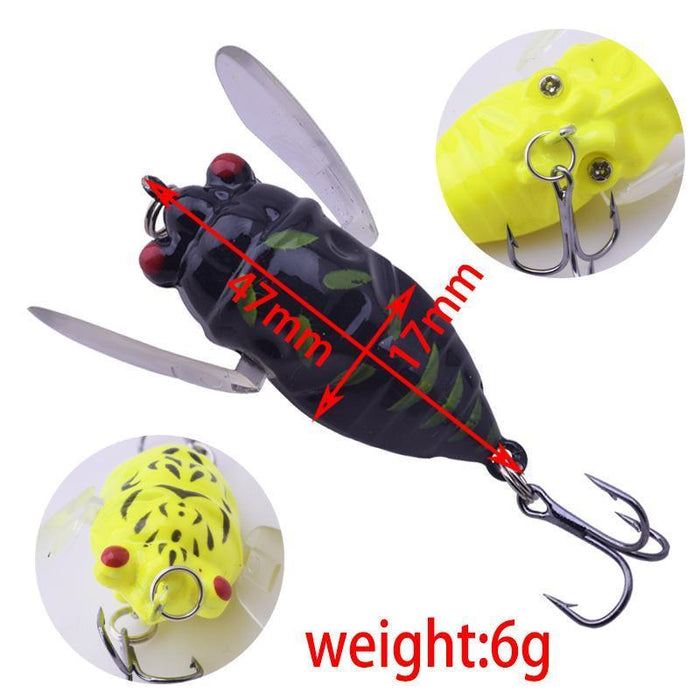 1Pcs Topwater Insects Fishing Lure 4.7Cm 6G Hard Bait Bass Crankbait Flying-WDAIREN fishing gear Store-A-Bargain Bait Box