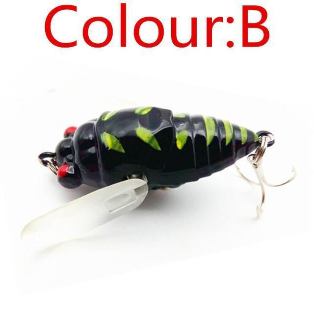 1Pcs Topwater Insects Fishing Lure 4.7Cm 6G Hard Bait Bass Crankbait Flying-WDAIREN fishing gear Store-B-Bargain Bait Box