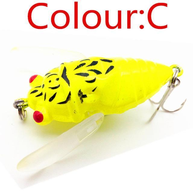 1Pcs Topwater Insects Fishing Lure 4.7Cm 6G Hard Bait Bass Crankbait Flying-WDAIREN fishing gear Store-C-Bargain Bait Box